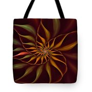 Nautilus Fractalus Tropical Tote Bag