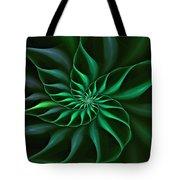 Nautilus Fractalus Verdant Green Tote Bag