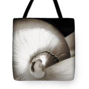 Nautilus Shell Sepia Tote Bag