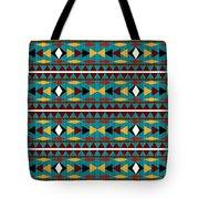 Navajo Teal Pattern Tote Bag