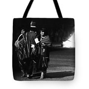 Navajo's Dance  Night Fire Rodeo Grounds Inter-tribal Indian Rodeo Gallup New Mexico 1969 Tote Bag