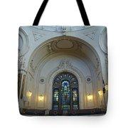 Naval Academy Chapel Side Portal Tote Bag