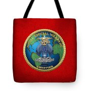 Naval Special Warfare Group Four - N S W G-4 - On Red Tote Bag