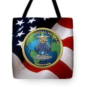 Naval Special Warfare Group Four - N S W G-4 - Over U. S. Flag Tote Bag