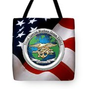Naval Special Warfare Group Three - N S W G-3 - Over U. S. Flag Tote Bag