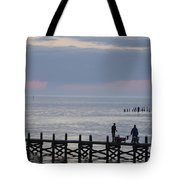 Navarre Beach Sunset Pier 10 Tote Bag