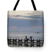 Navarre Beach Sunset Pier 11 Tote Bag