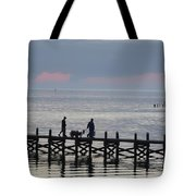 Navarre Beach Sunset Pier 12 Tote Bag