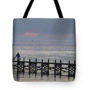 Navarre Beach Sunset Pier 14 Tote Bag