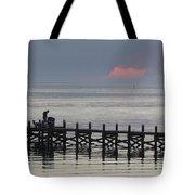 Navarre Beach Sunset Pier 16 Tote Bag