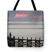 Navarre Beach Sunset Pier 20 Tote Bag