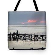 Navarre Beach Sunset Pier 21 Tote Bag
