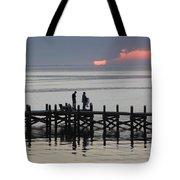 Navarre Beach Sunset Pier 25 Tote Bag