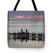 Navarre Beach Sunset Pier 28 Tote Bag