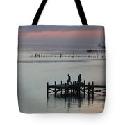 Navarre Beach Sunset Pier 30 Tote Bag