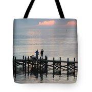 Navarre Beach Sunset Pier 35 Tote Bag