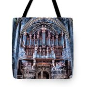 Nave Organ And Paintings Of Saint Cecile Tote Bag