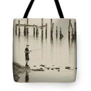 Navrre Beach Sunset Pier 5 Tote Bag