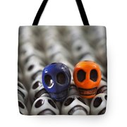 Navy Blue And Orange Tote Bag