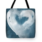 Navy Blue And White Love Tote Bag