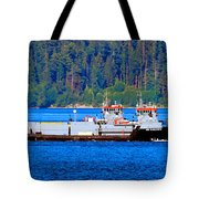 Navy Cover Tote Bag