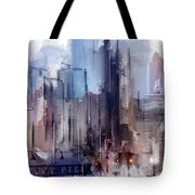 Navy Pier Blues Chicago Tote Bag