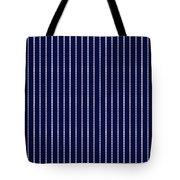 Navy Pinstripe 1 Tote Bag