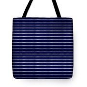 Navy Pinstripe 2 Tote Bag