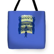 Navy Seal Leap Frogs 3 Vertical Parachutes Tote Bag