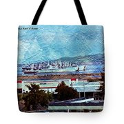 Navy Ships As A Painting Tote Bag
