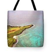 Nawiliwili Lighthouse - Aerial Tote Bag