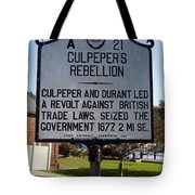 Nc-a21 Culpepers Rebellion Tote Bag
