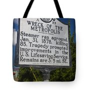Nc-a33 Wreck Of The Metropolis Tote Bag