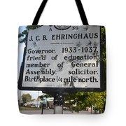 Nc-a39 J.c.b. Ehringhaus Tote Bag