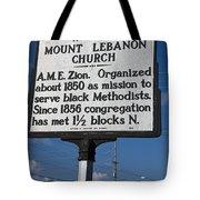 Nc-a43 Mount Lebanon Church Tote Bag
