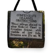 Nc-bbb3 Confederate Channel Obstructions Tote Bag