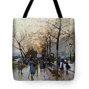 Near The Louvre Paris Tote Bag by Eugene Galien-Laloue