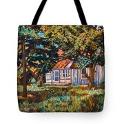 Near The Tech Duck Pond Tote Bag