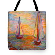 Nearing The Shoals Tote Bag