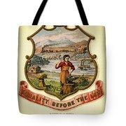 Nebraska Coat Of Arms -1876 Tote Bag