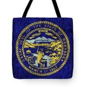 Nebraska Flag Tote Bag by World Art Prints And Designs