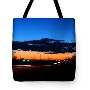 Nebraska Highway Sunset Tote Bag