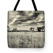 Nebraska Prairie One In Black And White Tote Bag