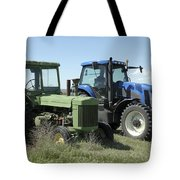 Nebraska Then And Now Tote Bag