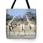 Necking Giraffes Botswana Tote Bag