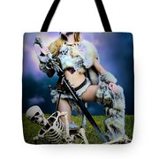 Necromancer On The Killing Fields Tote Bag