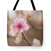 Nectarine Flower Blooming Tote Bag