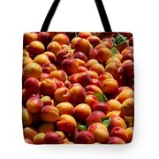 Nectarines For Sale At Weekly Market Tote Bag
