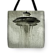 Needle On Canvas Tote Bag