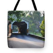 Neff's Mill Covered Bridge Lancaster County Tote Bag